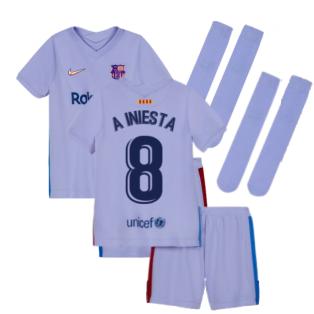 2021-2022 Barcelona Away Mini Kit (Kids) (A INIESTA 8)