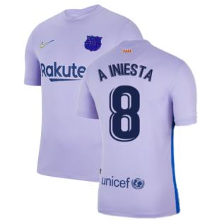 2021-2022 Barcelona Away Shirt (A INIESTA 8)