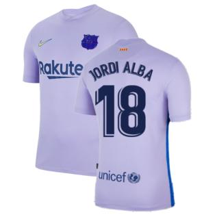 2021-2022 Barcelona Away Shirt (JORDI ALBA 18)