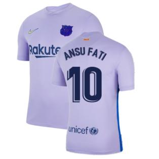 2021-2022 Barcelona Away Shirt (Kids) (ANSU FATI 10)