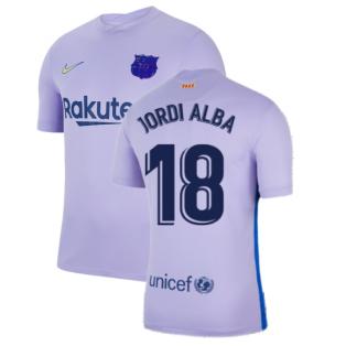 2021-2022 Barcelona Away Shirt (Kids) (JORDI ALBA 18)