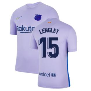2021-2022 Barcelona Away Shirt (Kids) (LENGLET 15)