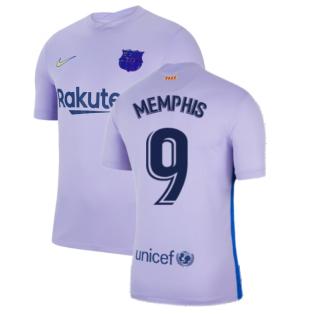 2021-2022 Barcelona Away Shirt (Kids) (MEMPHIS 9)
