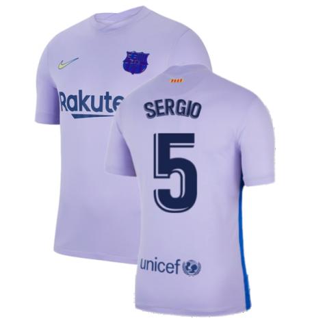 2021-2022 Barcelona Away Shirt (Kids) (SERGIO 5)