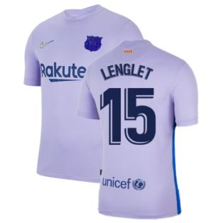 2021-2022 Barcelona Away Shirt (LENGLET 15)