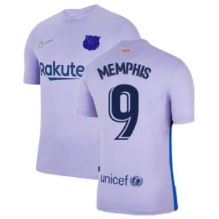 2021-2022 Barcelona Away Shirt (MEMPHIS 9)