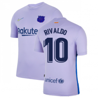 2021-2022 Barcelona Away Shirt (RIVALDO 10)