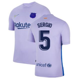 2021-2022 Barcelona Away Shirt (SERGIO 5)