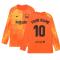 2021-2022 Barcelona Home Goalkeeper Shirt (Orange) - Kids (Your Name)