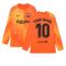 2021-2022 Barcelona Home Goalkeeper Shirt (Orange) (Your Name)