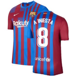 2021-2022 Barcelona Home Shirt (A INIESTA 8)