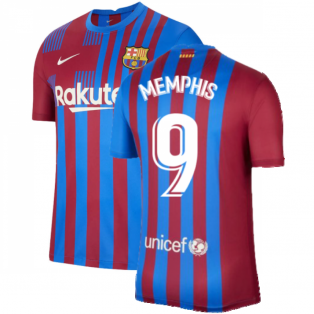 2021-2022 Barcelona Home Shirt (MEMPHIS 9)
