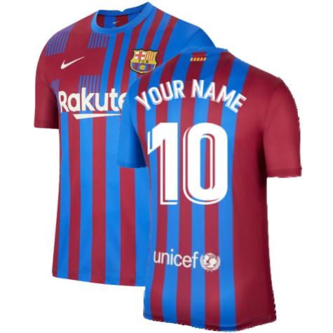 2021-2022 Barcelona Home Shirt (Your Name)