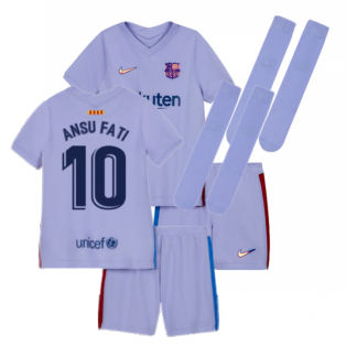 2021-2022 Barcelona Infants Away Kit (ANSU FATI 10)