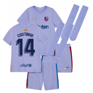 2021-2022 Barcelona Infants Away Kit (COUTINHO 14)