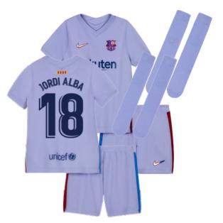 2021-2022 Barcelona Infants Away Kit (JORDI ALBA 18)