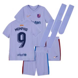 2021-2022 Barcelona Infants Away Kit (MEMPHIS 9)