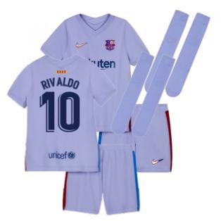 2021-2022 Barcelona Infants Away Kit (RIVALDO 10)