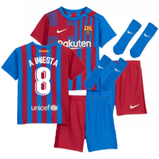 2021-2022 Barcelona Infants Home Kit (A INIESTA 8)