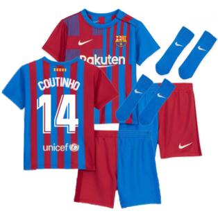 2021-2022 Barcelona Infants Home Kit (COUTINHO 14)