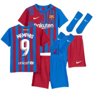 2021-2022 Barcelona Infants Home Kit (MEMPHIS 9)