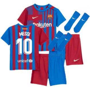2021-2022 Barcelona Infants Home Kit (MESSI 10)