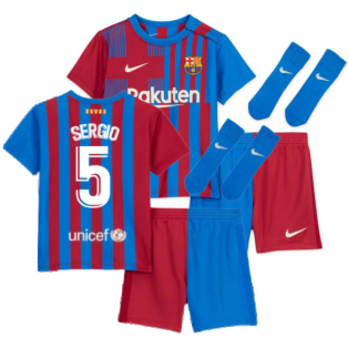 2021-2022 Barcelona Infants Home Kit (SERGIO 5)