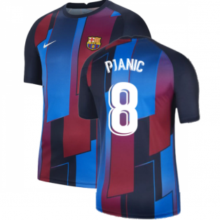 2021-2022 Barcelona Pre-Match Training Shirt (Blue) - Kids (PJANIC 8)