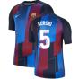 2021-2022 Barcelona Pre-Match Training Shirt (Blue) - Kids (SERGIO 5)