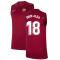 2021-2022 Barcelona Sleeveless Top (Red) (JORDI ALBA 18)