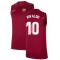 2021-2022 Barcelona Sleeveless Top (Red) (RIVALDO 10)