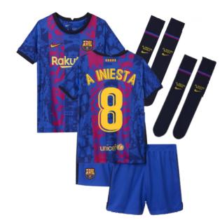 2021-2022 Barcelona Third Mini Kit (A INIESTA 8)