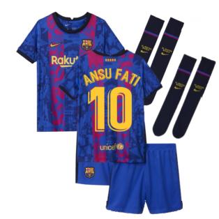2021-2022 Barcelona Third Mini Kit (ANSU FATI 10)