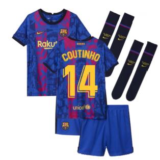 2021-2022 Barcelona Third Mini Kit (COUTINHO 14)