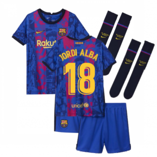 2021-2022 Barcelona Third Mini Kit (JORDI ALBA 18)