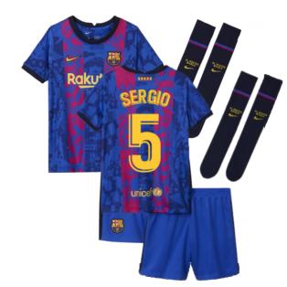 2021-2022 Barcelona Third Mini Kit (SERGIO 5)