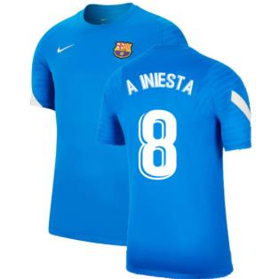 2021-2022 Barcelona Training Shirt (Blue) (A INIESTA 8)