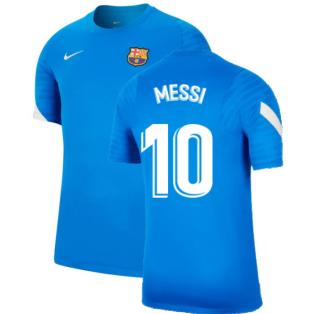 2021-2022 Barcelona Training Shirt (Blue) (MESSI 10)
