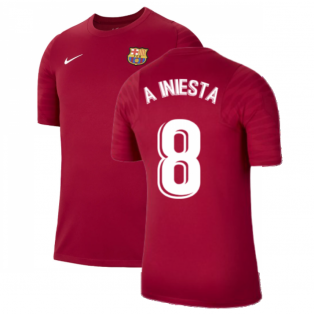 2021-2022 Barcelona Training Shirt (Noble Red) (A INIESTA 8)