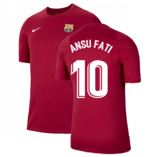 2021-2022 Barcelona Training Shirt (Noble Red) (ANSU FATI 10)