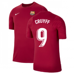 2021-2022 Barcelona Training Shirt (Noble Red) (CRUYFF 9)