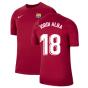 2021-2022 Barcelona Training Shirt (Noble Red) (JORDI ALBA 18)