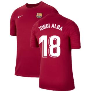2021-2022 Barcelona Training Shirt (Noble Red) - Kids (JORDI ALBA 18)