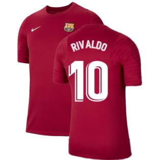 2021-2022 Barcelona Training Shirt (Noble Red) - Kids (RIVALDO 10)
