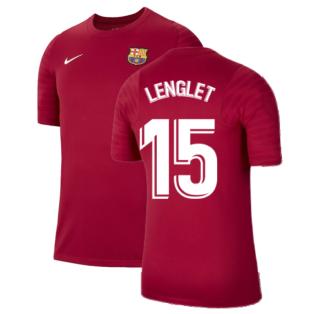 2021-2022 Barcelona Training Shirt (Noble Red) (LENGLET 15)
