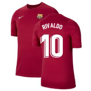 2021-2022 Barcelona Training Shirt (Noble Red) (RIVALDO 10)