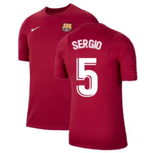 2021-2022 Barcelona Training Shirt (Noble Red) (SERGIO 5)