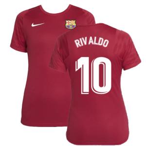 2021-2022 Barcelona Training Shirt (Noble Red) - Womens (RIVALDO 10)