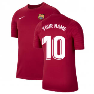 2021-2022 Barcelona Training Shirt (Noble Red) (Your Name)