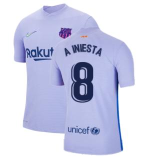 2021-2022 Barcelona Vapor Away Shirt (A INIESTA 8)